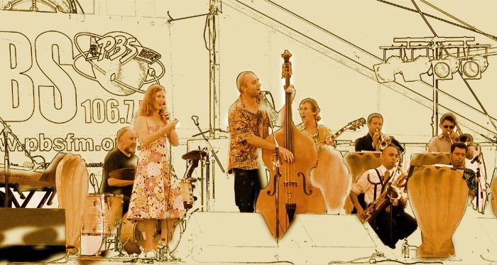 Pearly's Big band with Julie O'Hara at the Queenscliff music festival